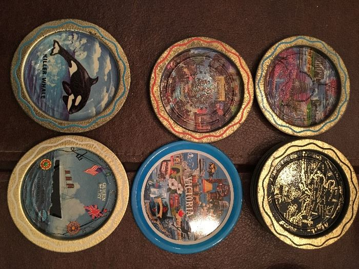 Vintage collectible coasters