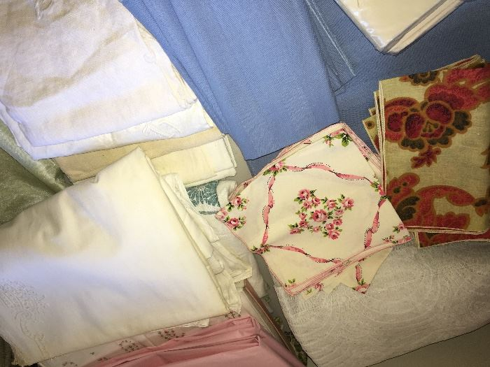 Vintage linens, tons not pictured