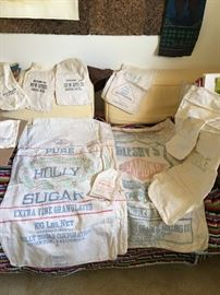 Vintage sugar sacks