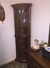 lighted corner cabinet