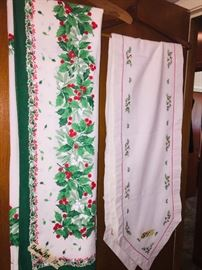 vintage Christmas linens