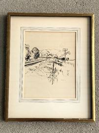 Armand Merizon Signed Pen / Ink Drawing