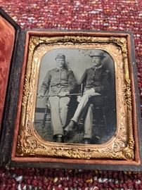 Original Union Civil War Soldiers Cased Tintype