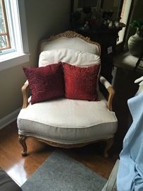 "Off-white Drexel Heritage chair - two listed.  34"" wide, 37"" tall"