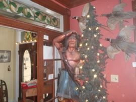 Antique 5 foot Cigar Store Indian