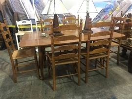 Ethan Allen Farm Table and 6 chairs