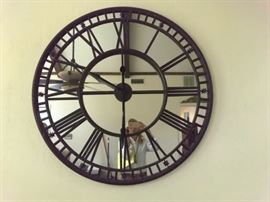 Oversized mirror clock