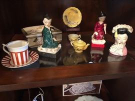 Vintage Japanese figurines.
