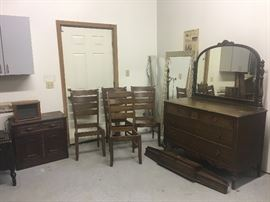 Vintage furniture, chairs mirror