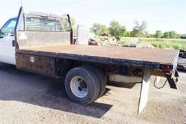 Ford F350 Flatbed Truck 2000 Clear Kansas Title..