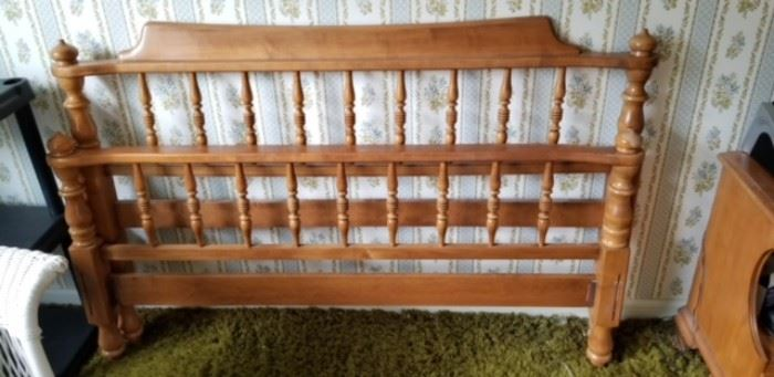 Maple double size bed frame.