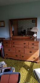 KLING maple mirrored dresser.