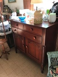 Another photo of cherry sideboard/buffet.