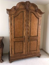 "2 gorgeous Walter E. Smithe wardrobe cabinets.....                50""W x 87""H x 22""D"