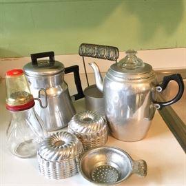 Vintage aluminum kitchenware