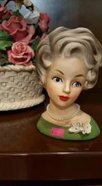 Vintage Ladies Head Vase