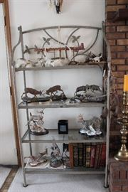 Western Decor and Wildlife Sculptures- Dueling Stags, Dueling Rams, Buck Statues, Rare books