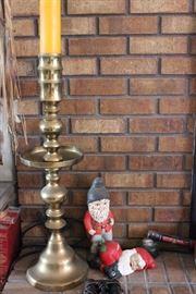 Brass Candlesticks- Tall