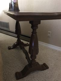 Wooden hall table
