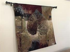 Beautiful wall hanging depicting leaf motif.
