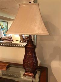 Oriental styled lamp.