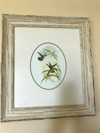 Print with French country styled frame.