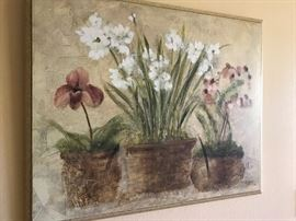 Large floral themed canvas print.