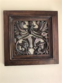 French styled decorative plaque