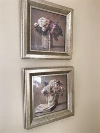 Pair of floral prints .