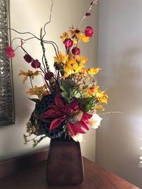 Floral display beautifully arranged in vase