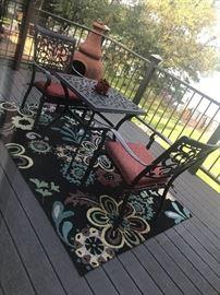 Outdoor patio set.