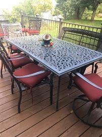 Outdoor deck furniture.