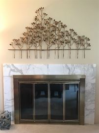 Decorative metal wall hanging, great accent piece .