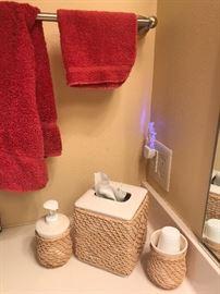 Bathroom accessories.