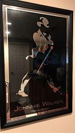 Johnnie Walker advertising mirror