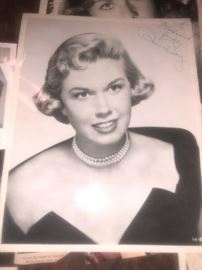 DORIS DAY SIGNED HEAD SHOTS, AND ORIGINAL SCRIPTS...