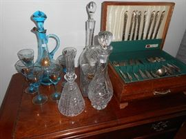 Crystal & Glass decanters, and decanters set