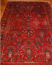 "14 - RUG - Sarouk, wool on cotton, handmade, 79"" x 50 1/2."
