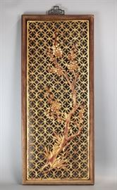 Chinese pierced wooden panel, 19th c.