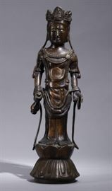 Chinese brass Guanyin, 19th c.