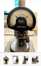 This Mahr Millimess .00005 Indicator & Precision Base is one of several Machinist Tools, of varying manufacturers, ages, materials, functions, and prices, and is listed for $295