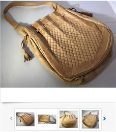 Vintage 1960s Mexican Hand Made Woven Leather Purse; Never used, in near-perfect condition; $52