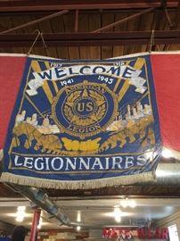 VINTAGE LEGIONNAIRES FLAG