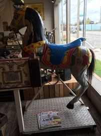 VINTAGE COIN OPERATED HORSE! WORKS