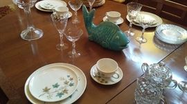 50's Dinner Set, Wine and Champagne Glasses