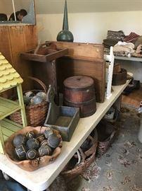 Wooden Ware, Shelving, etc.