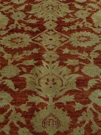 "Turkish hand knotted Oushak wide runner, 4' 3"" x 11' 4"""