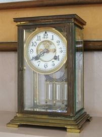 19th. C. Carriage Mantle Clock by Waterbury