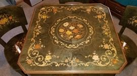 Game Table Inlaid Top
