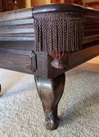 Pool Table Leg and Pocket Detail
